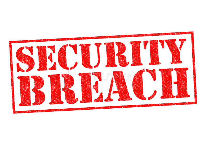 SECURITY BREACH. Red Rubber Stamp over a white background vector illustration