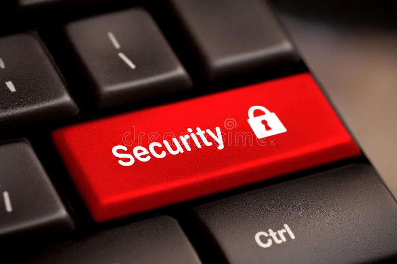 Security button key royalty free stock photography