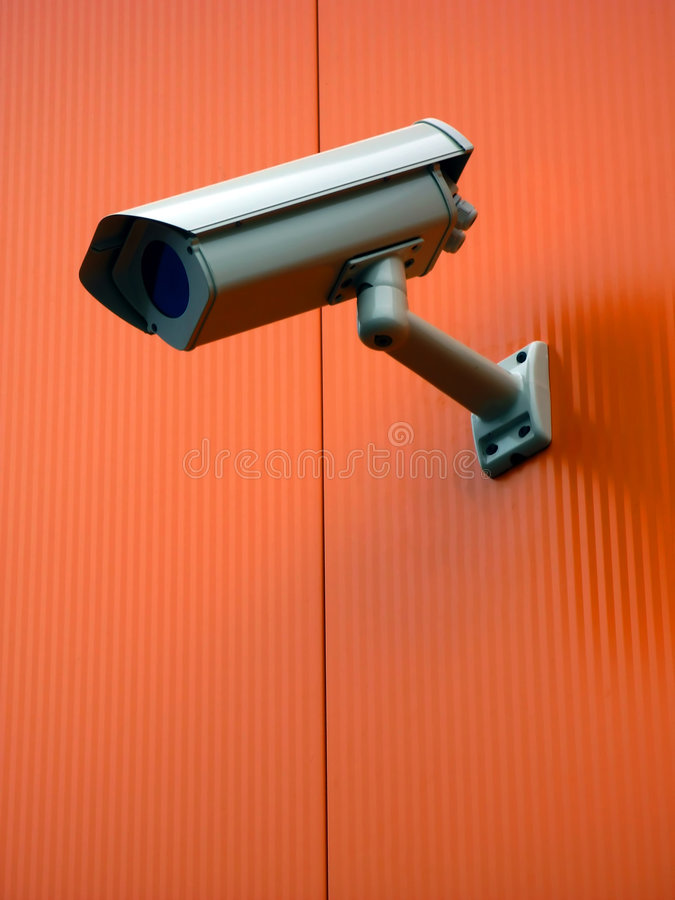 Security cam. Nonstop watching you stock photos