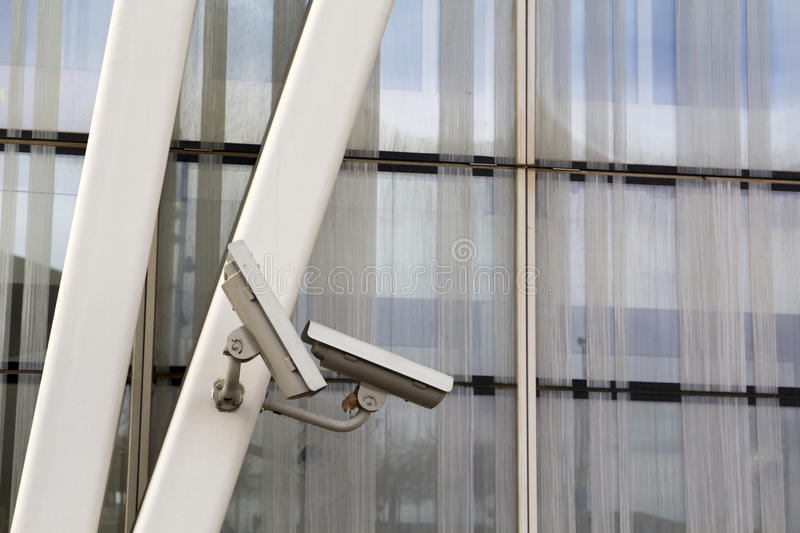 Security cam for video surveillance stock photography