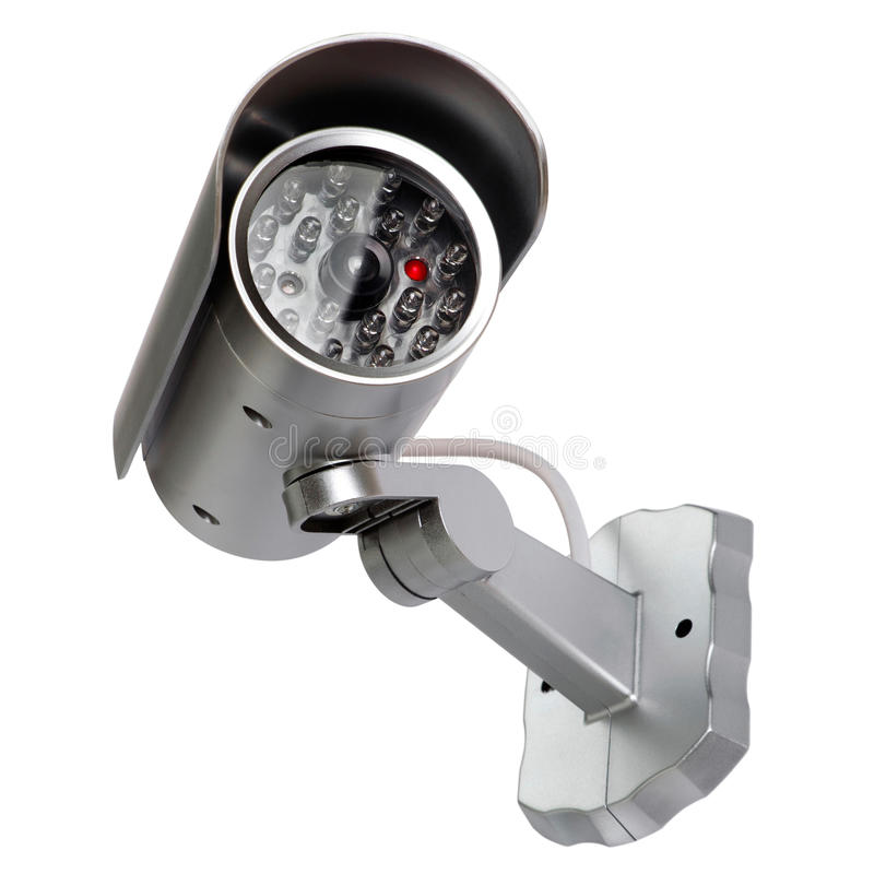Security Camera. Image of security surveillance camera on white background royalty free stock photos