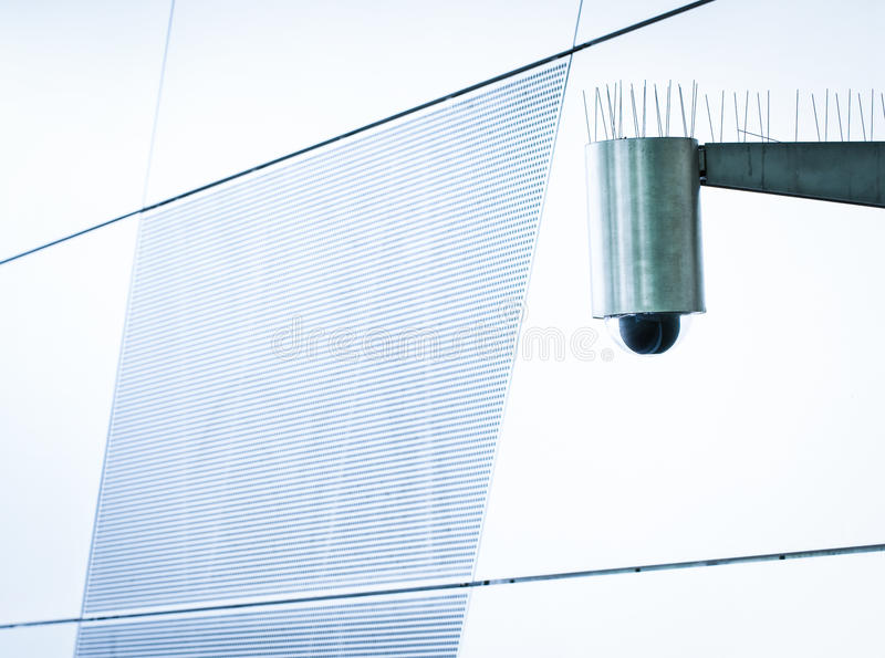 Security camera. Modern security camera - close-up royalty free stock photos