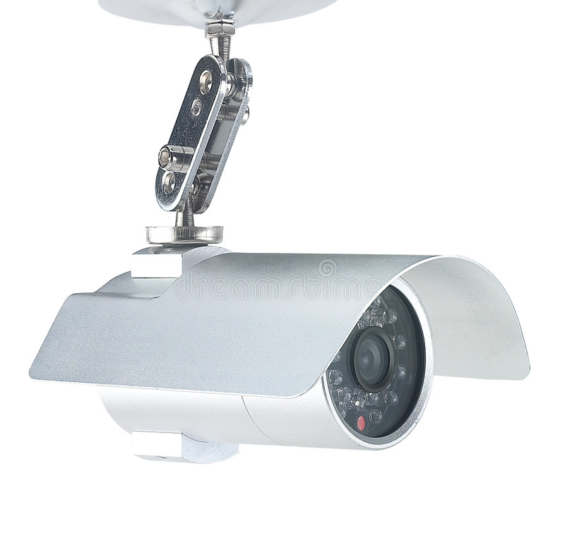 Security camera. High end security camera isolated on white