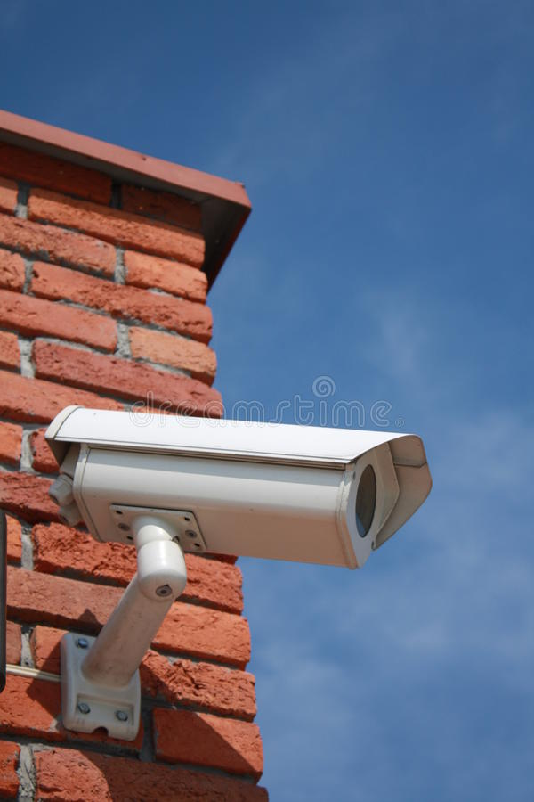 Download Security Camera On The Brick Wall Stock Photo - Image: 15590468
