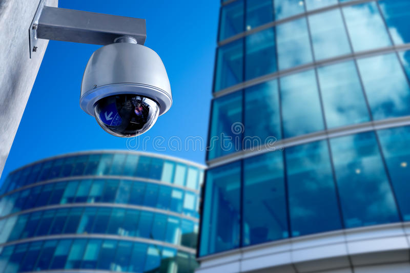 Security Camera, CCTV on business office building. Security Camera, CCTV on location, taken in London