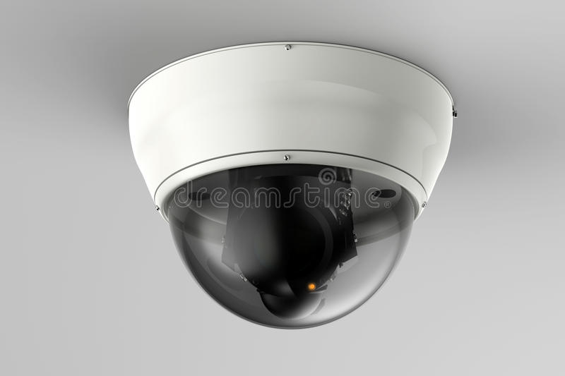 Security camera or cctv camera on ceiling stock photos