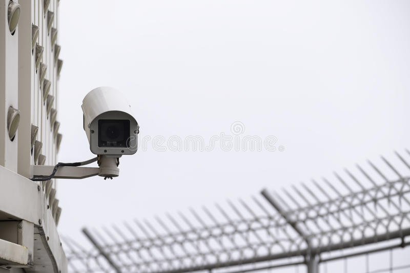 Security camera CCTV. In modern city royalty free stock image