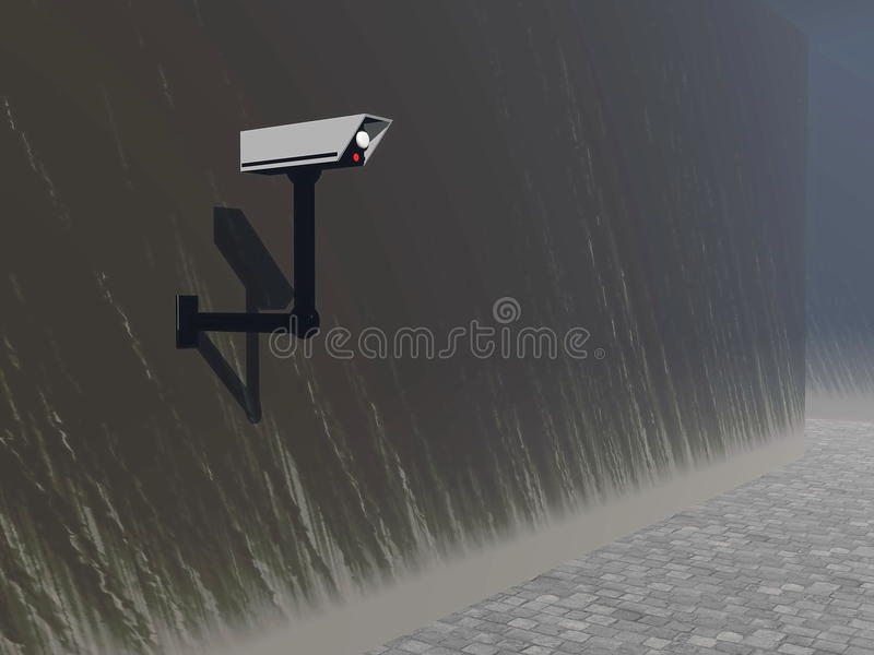 Download Security camera 3D render stock illustration. Illustration of business - 32512283