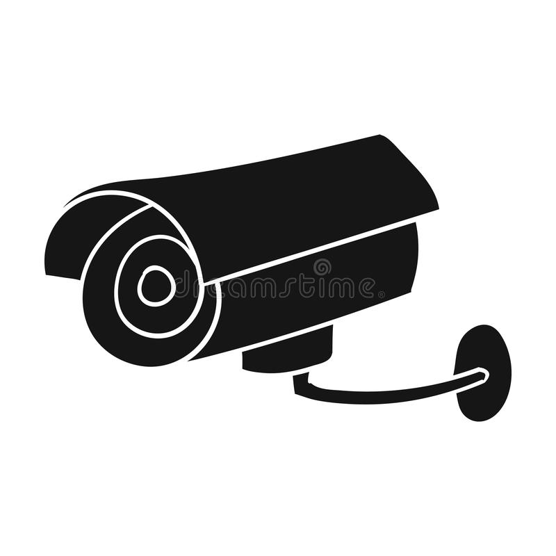 Security Camera Icon In Black Style Isolated On White Background