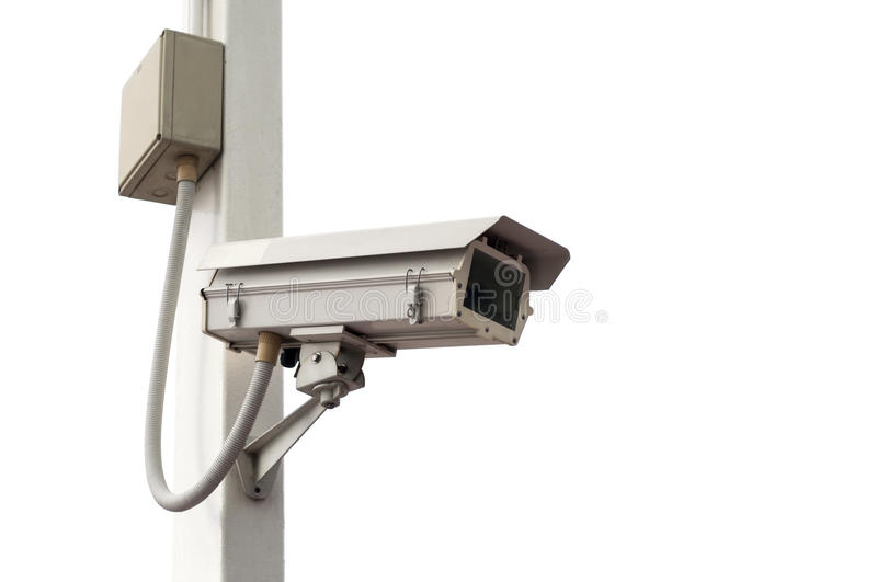 Security camera isolated stock photos