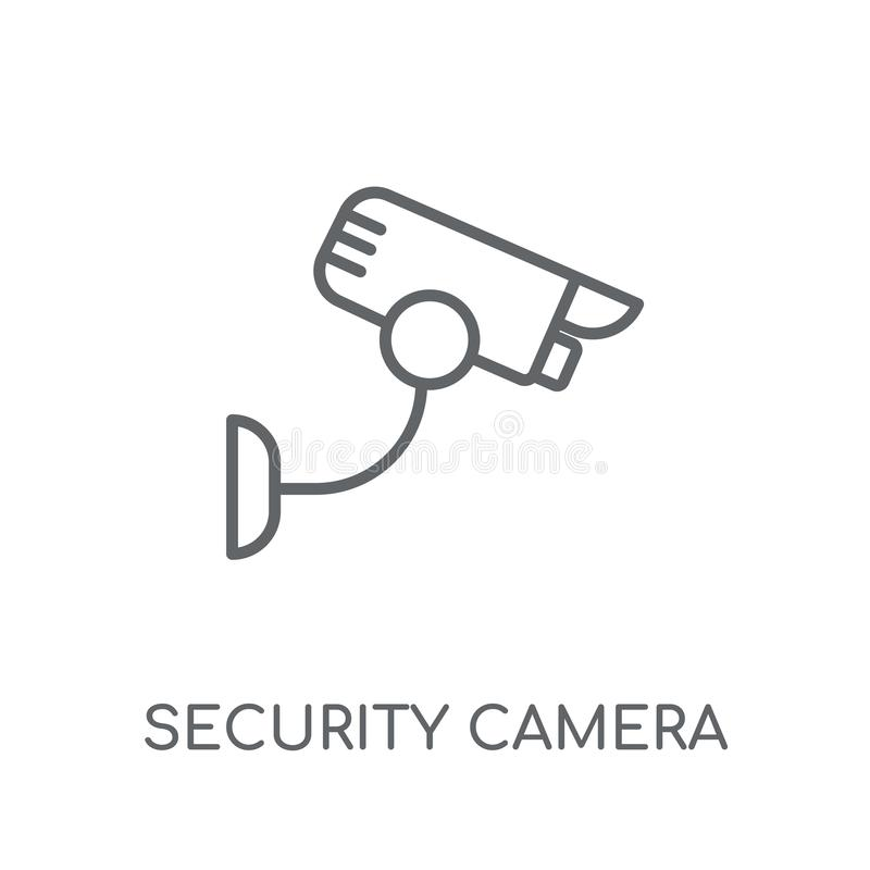 Security camera linear icon. Modern outline Security camera logo royalty free illustration