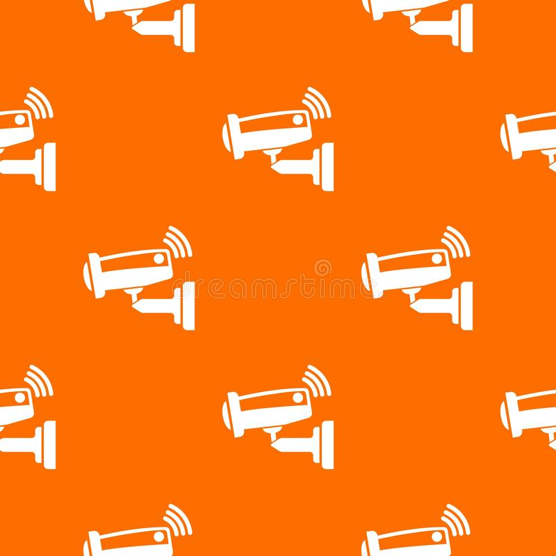 Security camera pattern vector orange stock illustration