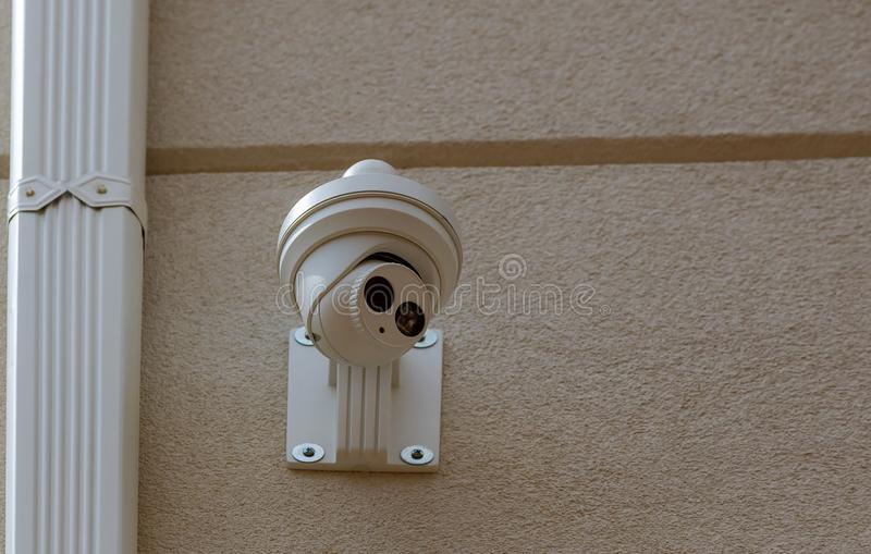 Security camera Private property protection stock image