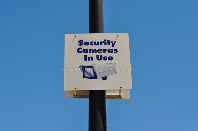 Security Camera Sign. Security Camera in Use Sign stock photography