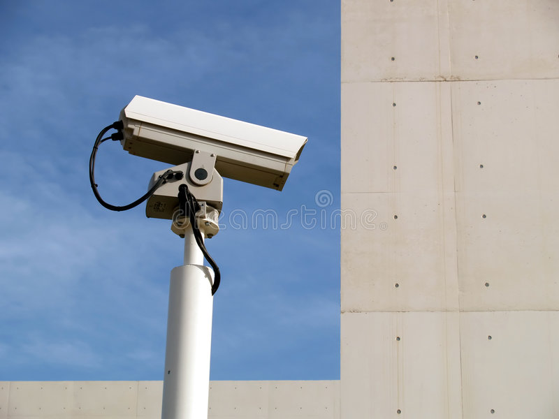 Security camera and sky royalty free stock images
