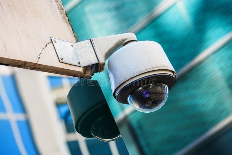 Security camera and urban video. Closeup on security camera on urban video royalty free stock photography
