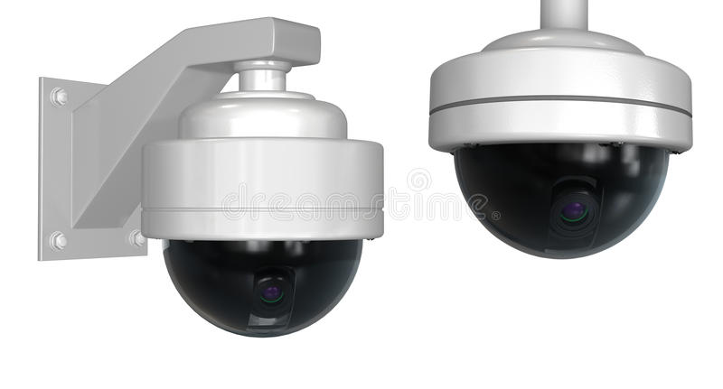 Download Security cameras stock illustration. Image of white, camera - 18018372