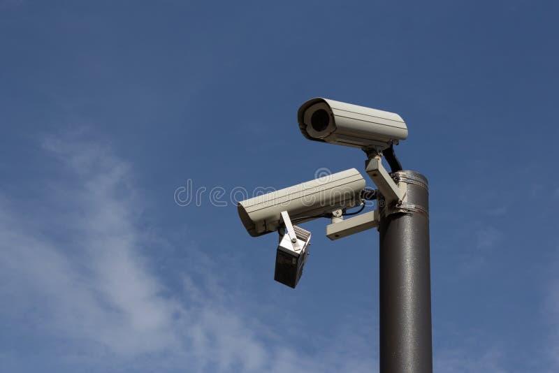 Security cameras - surveillance cam , cctv royalty free stock photography