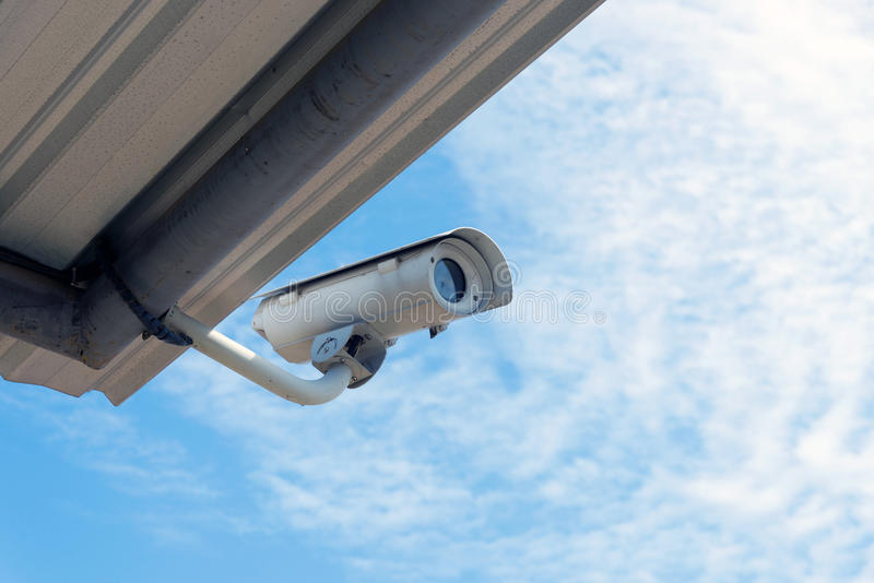 Security CCTV camera royalty free stock photography