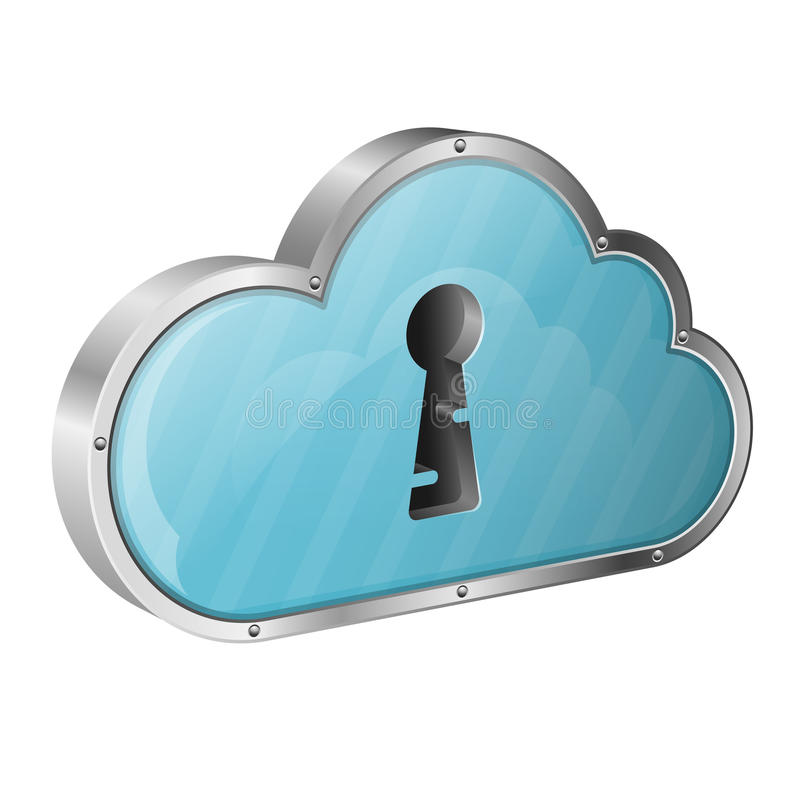 Security Cloud Computing Concept Stock Photography