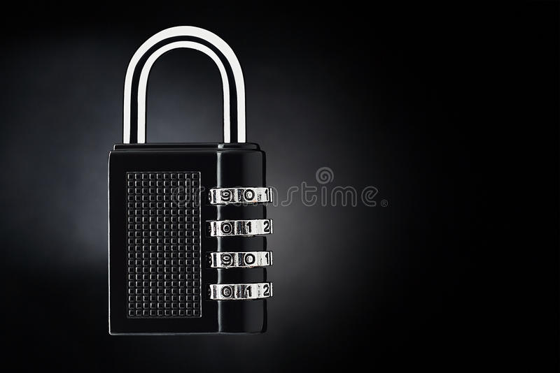 Security concept. Code lock on a dark background. stock photography