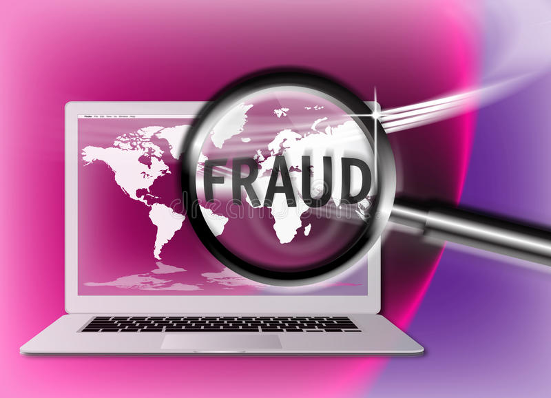 Download Security Concept Focus Fraud Stock Illustration - Image: 18287096