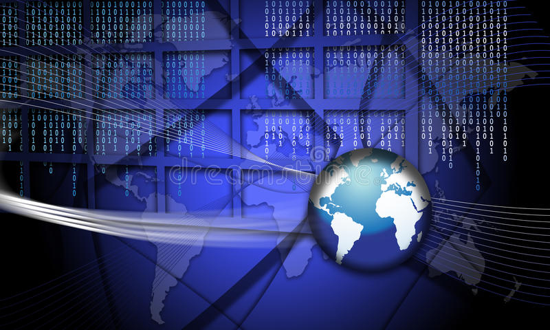 Security Concept Focus World Fraud stock illustration