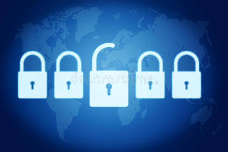 Security concept royalty free illustration