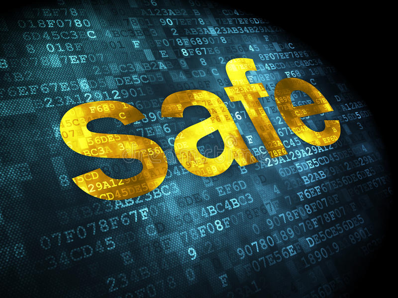Security concept: safe on digital background royalty free stock image