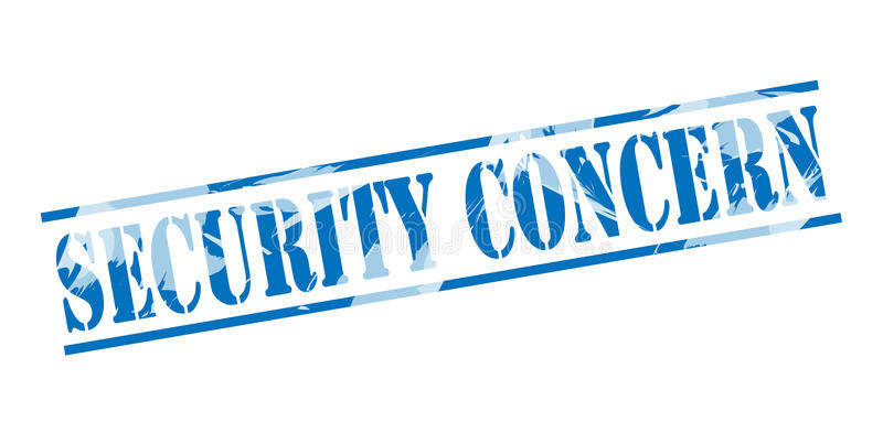 Security concern blue stamp. Isolated on white background royalty free illustration