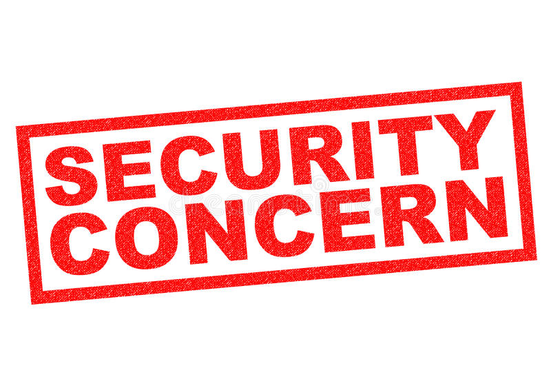 SECURITY CONCERN. Red Rubber Stamp over a white background royalty free illustration
