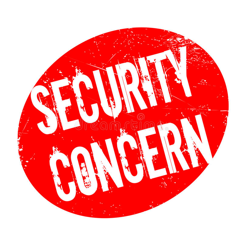 Security Concern rubber stamp. Grunge design with dust scratches. Effects can be easily removed for a clean, crisp look. Color is easily changed vector illustration