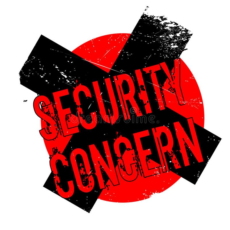 Security Concern rubber stamp. Grunge design with dust scratches. Effects can be easily removed for a clean, crisp look. Color is easily changed royalty free illustration
