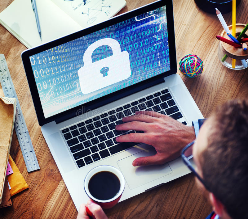 Security Data Protection Inofrmation Lock Save Private Concept royalty free stock photo