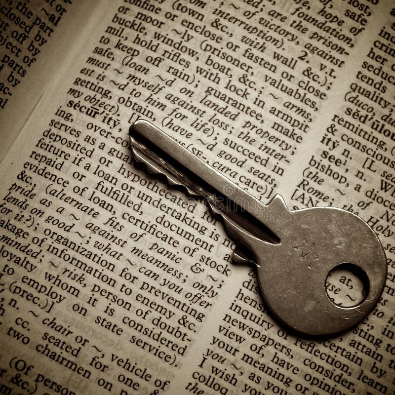 Download Security Definition Pointed Out By Key Stock Image - Image of detail, grunge: 20636439