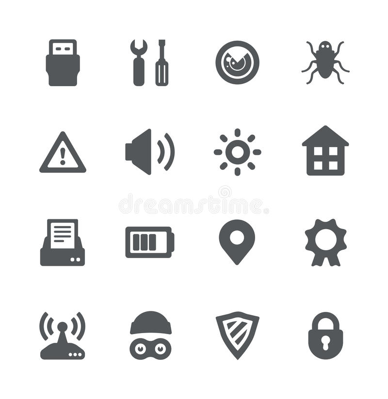 Free Security Device Simple Icons Royalty Free Stock Image - 25066096