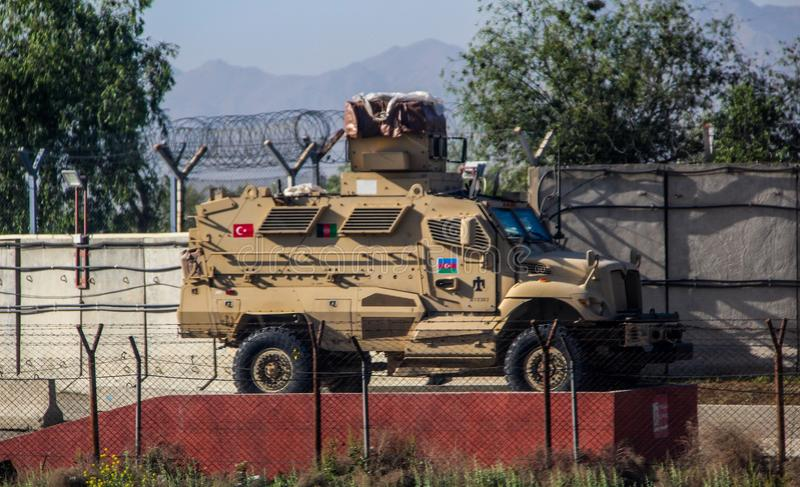 Security escort in Gardez in Afghanistan in the summer royalty free stock photography