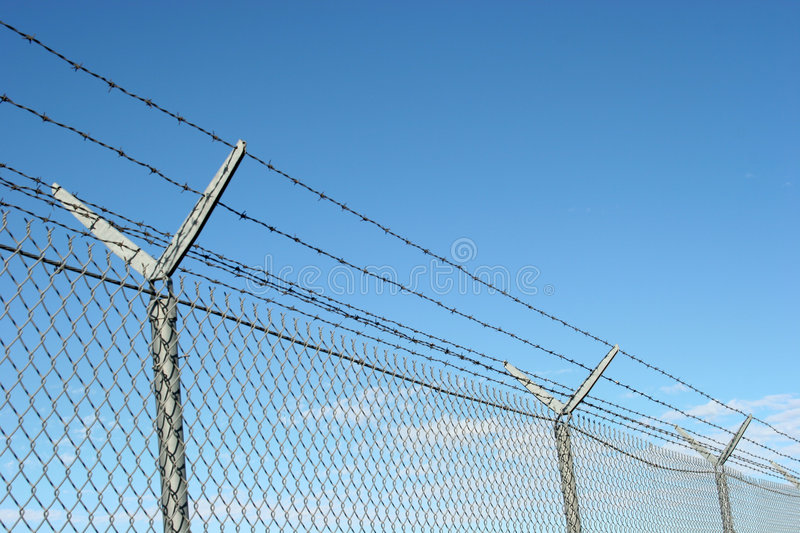 Security fence royalty free stock image
