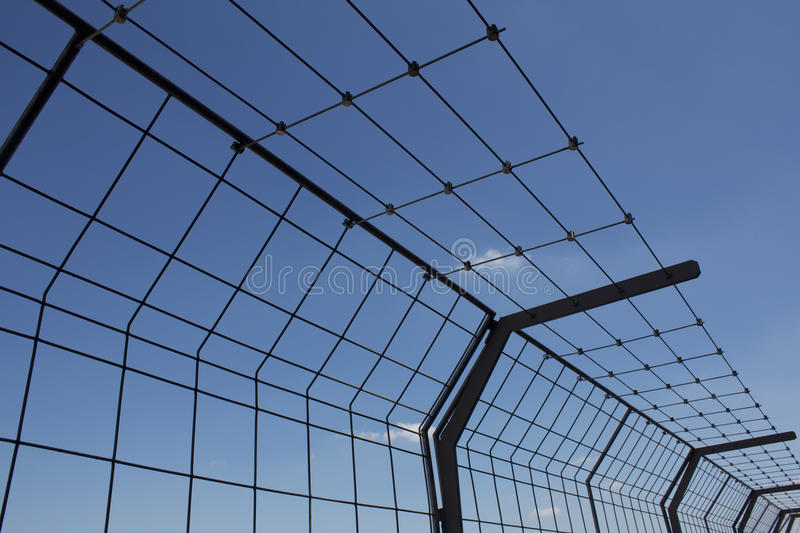 Security Fence. Around the the Eiffel Tower stock photos