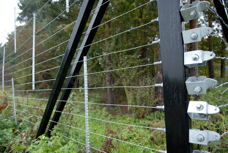 Security Fence. stock photography