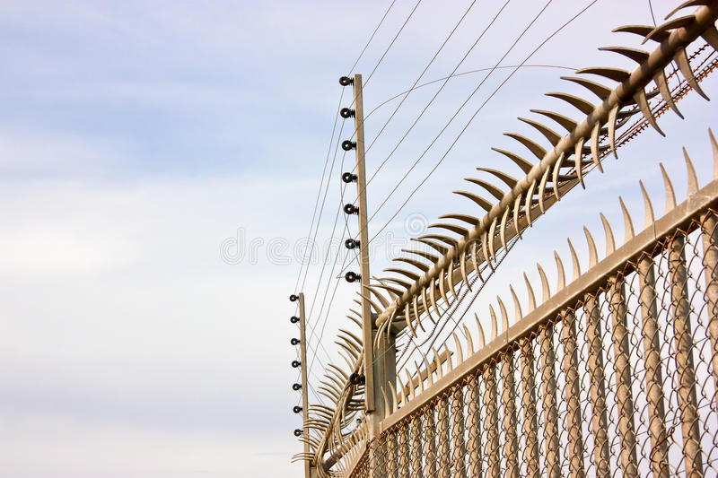 Security fence royalty free stock images