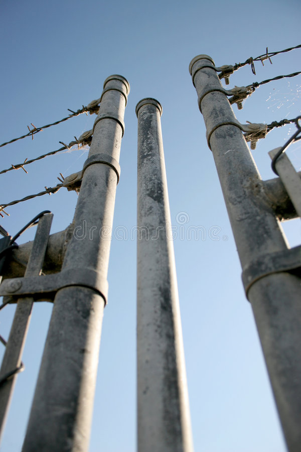 Security Fence. Barbed Wire Security Fence stock image