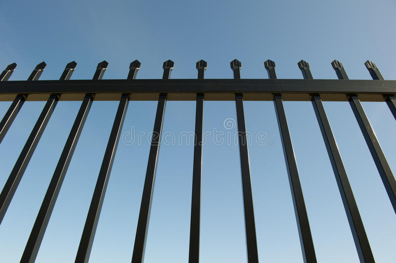 Security Fence around Industrial Property stock images