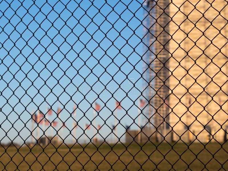 Security fence in Washington stock photo