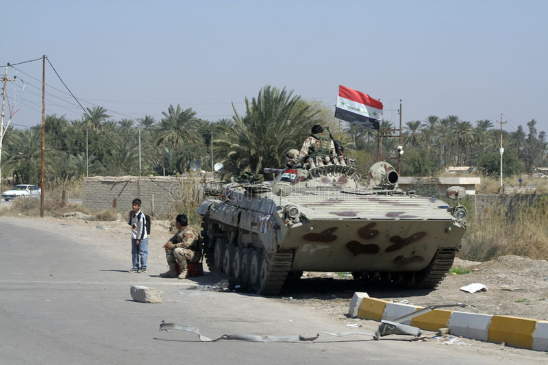 Security Forces in Iraq royalty free stock image