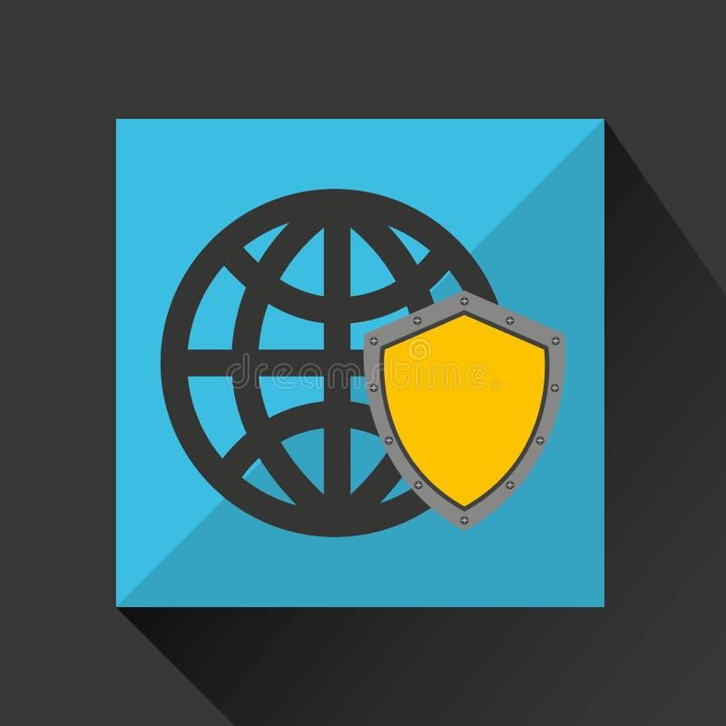 Security globe system technology. Vector illustration eps 10 royalty free illustration