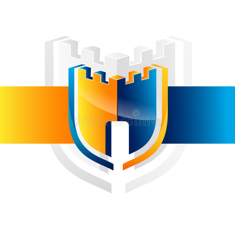 Security guard logo design vector. Security protection shield symbol . Secure shield icon vector. Privacy lock icon vector illustration