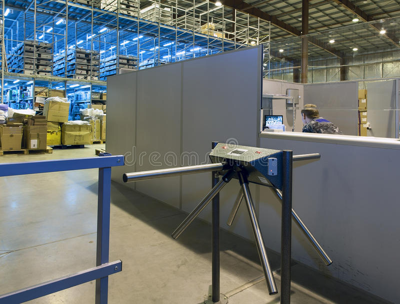 Download Security Guard Of Modern Warehouse Stock Image - Image: 28382763