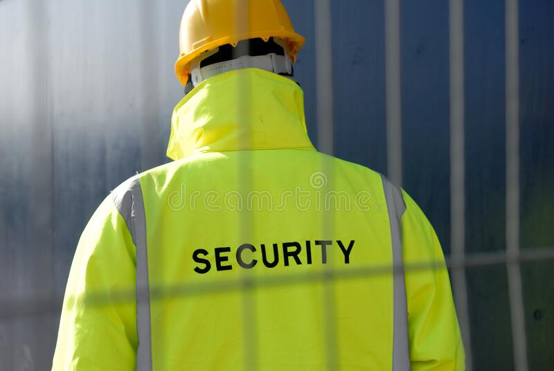 Security Guard Protecting Property stock photo