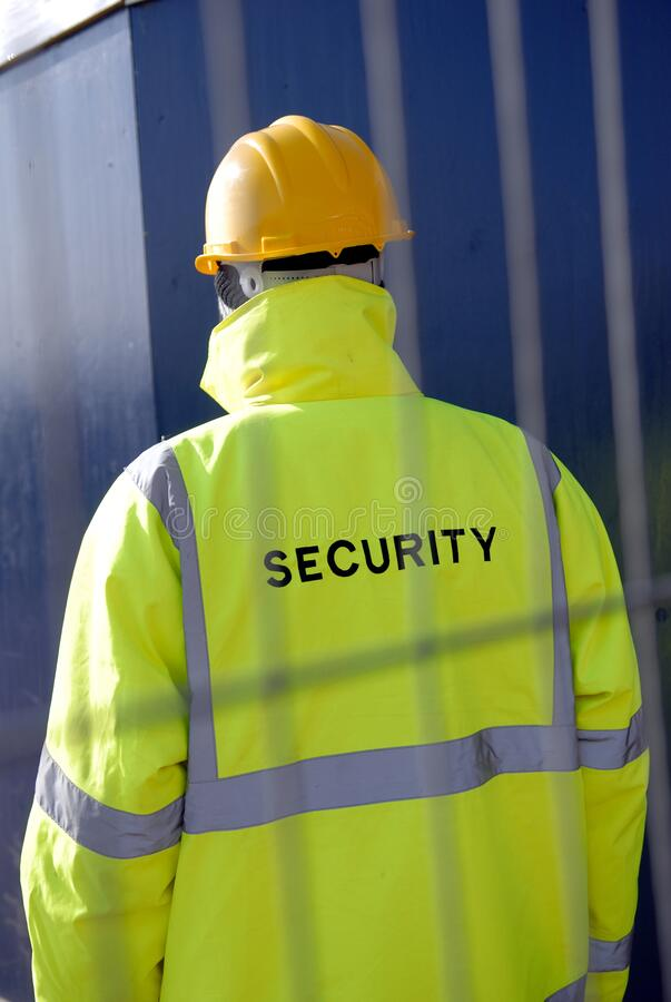 Security Guard Protecting Property royalty free stock image